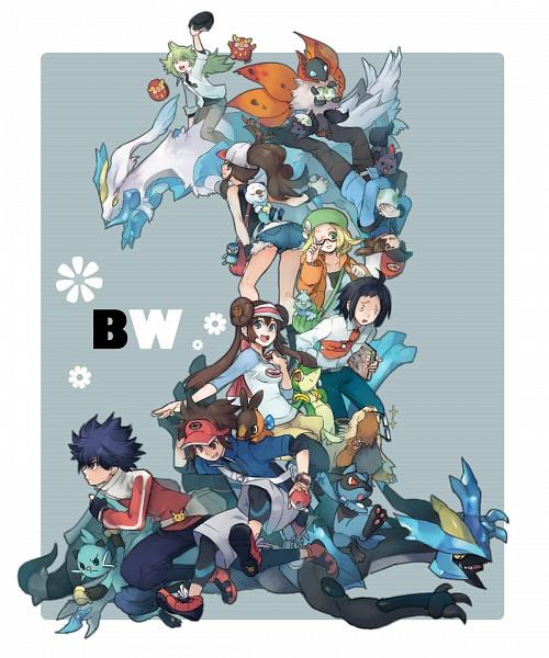 Tags: Anime, Mayday, Black and White 2, Pokémon, Black Kyurem, Riolu, Dewott, Minccino, Kyurem, Zorua, Kyouhei, Snivy, Hue