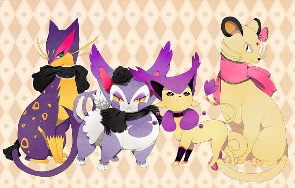 Tags: Anime, YAJUU, Pokémon, Purugly, Liepard, Persian, Delcatty, Black Flower, deviantART, Fanart, Fanart From DeviantART