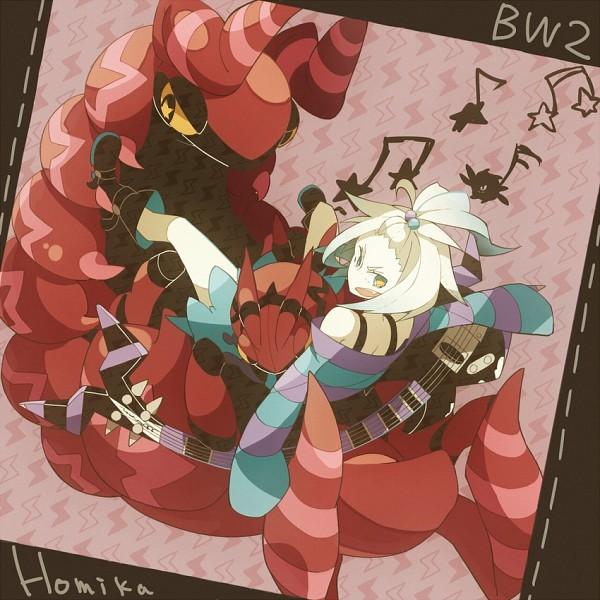 Tags: Anime, 801yamaarashi, Pokémon, Scolipede, Venipede, Homika, Bass Guitar
