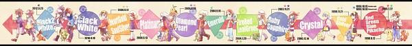 Tags: Anime, Kabocha Torute, Pokémon, Mei (Pokémon), Chikorita, Kouki (Pokémon), Piplup, Totodile, Treecko, Touya (Pokémon), Charmander, Bulbasaur, Fire (Pokémon)