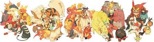 Tags: Anime, Pokémon, Kouki (Pokémon), Touko (Pokémon), Charmander, Ponyta, Darmanitan, Hikari (Pokémon), Camerupt, Ninetales, Arcanine, Fire (Pokémon), Growlithe