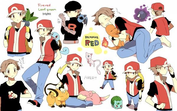 Tags: Anime, Pixiv Id 430137, Pokémon, Gastly, Pikachu, Oddish, Charmander, Raichu, Zubat, Bulbasaur, Squirtle, Fire (Pokémon), Red (Pokémon)