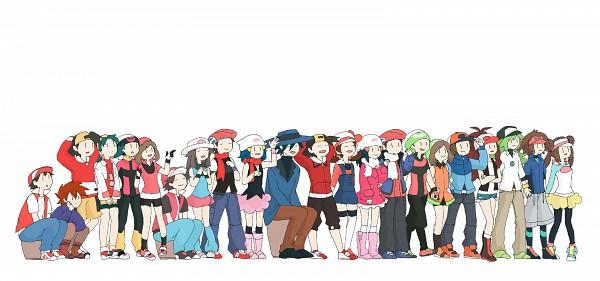 Tags: Anime, Pixiv Id 2165047, Pokémon, Kotone (Pokémon), N (Pokémon), Green (Pokémon), Mei (Pokémon), Hibiki (Pokémon), Touko (Pokémon), Leaf (Pokémon), Touya (Pokémon), Haruka (Pokémon), Yuuki (Pokémon)