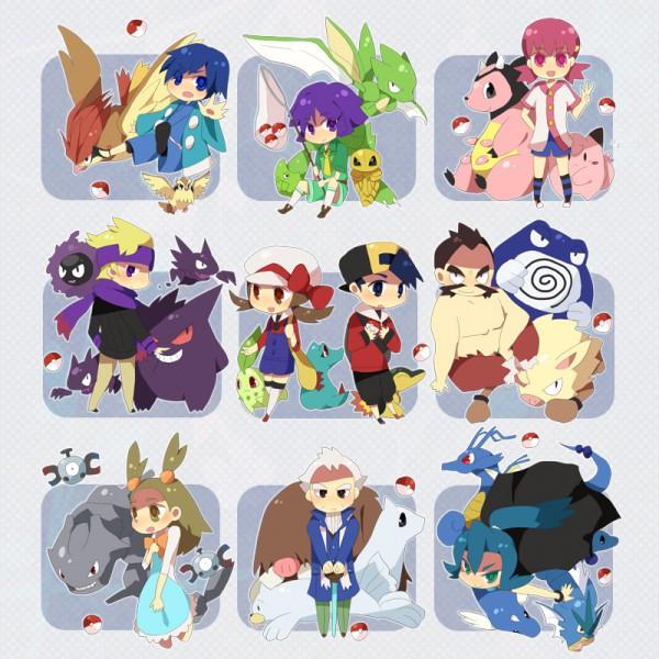 Tags: Anime, Zhampy, Pokémon, Clefairy, Kingdra, Seel, Hibiki (Pokémon), Gengar, Mikan (Pokémon), Scyther, Akane (Pokémon), Kakuna, Primeape