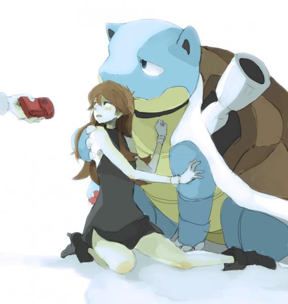 Tags: Anime, Tsuda, Pokémon SPECIAL, Pokémon, Blastoise, Ookido Yukinari, Leaf (Pokémon)