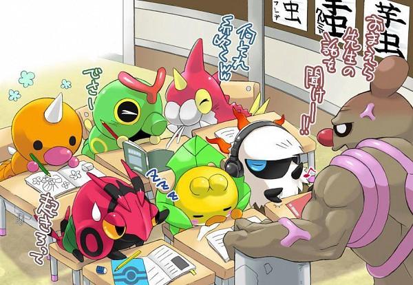 Tags: Anime, Pokémon, Weedle, Larvesta, Sewaddle, Wurmple, Conkeldurr, Caterpie, Venipede, Translation Request