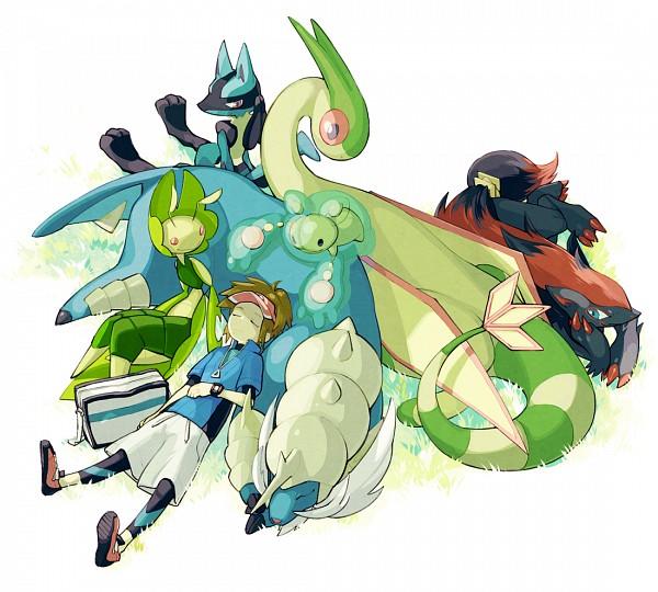 Tags: Anime, Nakatani Nio, Pokémon, Reuniclus, Lucario, Leavanny, Zoroark, Samurott, Flygon, Kyouhei, Leggings, Pixiv, Fanart From Pixiv