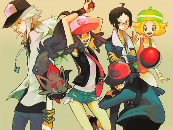 Tags: Anime, Pixiv Id 64213, Pokémon, N (Pokémon), Touya (Pokémon), Touko (Pokémon), Zorua, Bel (Pokémon), Cheren (Pokémon), Fanart, Fanart From Pixiv, Pixiv