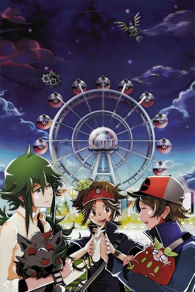 Tags: Anime, Pixiv Id 968583, Pokémon Black & White, Pokémon, N (Pokémon), Darumaka, Zorua, Klang, Joltik, Touya (Pokémon), Purrloin, Kyouhei, Sigilyph
