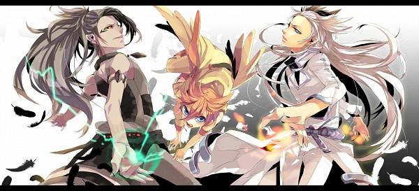 Tags: Anime, Ichikawa Ichi, Pokémon, Victini, Zekrom, Reshiram, Legendary Pokémon, Fanart, Facebook Cover, Fanart From Pixiv, Pixiv
