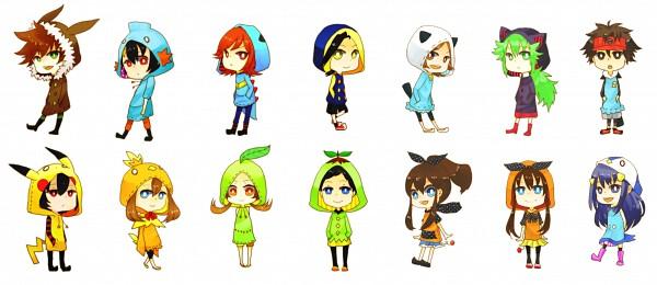 Tags: Anime, Pixiv Id 752112, Pokémon, N (Pokémon), Red (Pokémon), Haruka (Pokémon), Touko (Pokémon), Silver (Pokémon), Touya (Pokémon), Hikari (Pokémon), Yuuki (Pokémon), Mei (Pokémon), Kotone (Pokémon)
