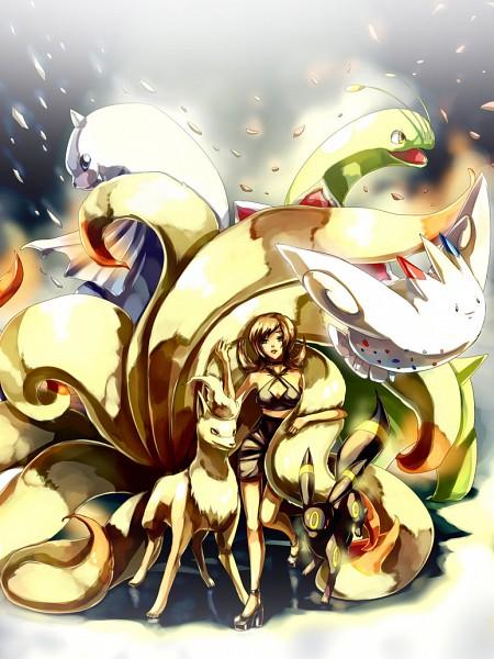 Tags: Anime, Sa-dui, Pokémon, Umbreon, Meganium, Ninetales, Dewgong, Fan Character, Kotone (Pokémon), Togekiss