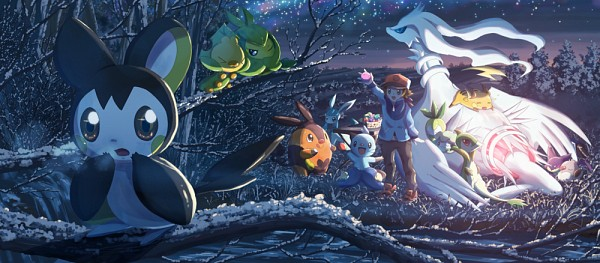 Tags: Anime, Kokoroko, Pokémon, Petilil, Sewaddle, Raichu, Emolga, Pignite, Glaceon, Cottonee, Purrloin, Scraggy, Dewott