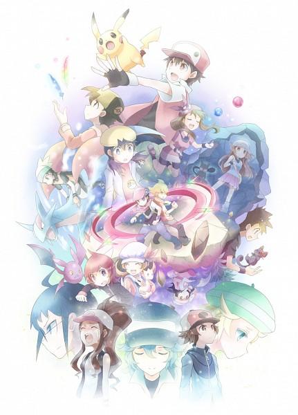 Tags: Anime, Kokoroko, Pokémon, Cheren (Pokémon), Hibiki (Pokémon), Yuuki (Pokémon), Kris (Pokémon), N (Pokémon), Zubat, Jun (Pokémon), Voltorb, Red (Pokémon), Touko (Pokémon)