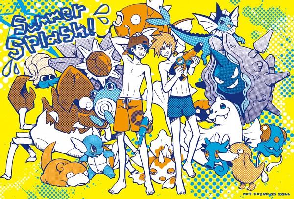Tags: Anime, Pixiv Id 268092, Pokémon, Dewgong, Goldeen, Starmie, Hibiki (Pokémon), Kingler, Magikarp, Omanyte, Horsea, Tentacool, Poliwhirl