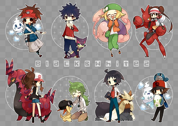 Tags: Anime, Akebi (Kakororo), Black and White 2, Pokémon Black & White, Pokémon, Kyouhei, Musharna, Scizor, Victini, Poliwag, Hue, Bel (Pokémon), Scolipede