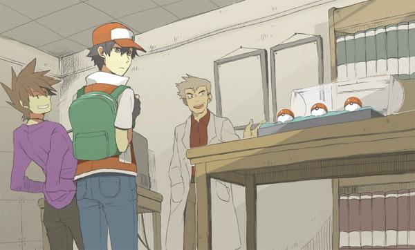 Tags: Anime, Pixiv Id 2075811, Pokémon, Ookido Yukinari, Green (Pokémon), Red (Pokémon), Fanart From Pixiv, Fanart, Pixiv
