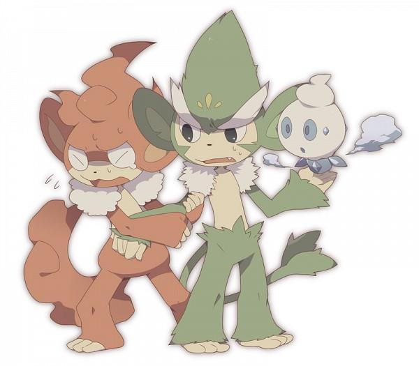 Tags: Anime, Pixiv Id 132645, Pokémon, Simisear, Vanillite, Simisage