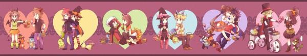 Tags: Anime, Kabocha Torute, Pokémon, Kotone (Pokémon), Touko (Pokémon), Squirtle, Green (Pokémon), Oshawott, Cyndaquil, Torchic, Hue, Haruka (Pokémon), Leaf (Pokémon)