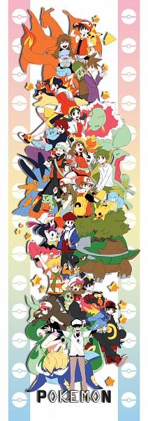 Tags: Anime, Pokémon, Jun (Pokémon), Touko (Pokémon), Squirtle, Kris (Pokémon), Meganium, Serperior, Hibiki (Pokémon), Kouki (Pokémon), Torchic, Haruka (Pokémon), Mitsuru (Pokémon)