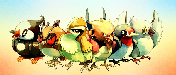 Tags: Anime, Sa-dui, Pidove, Taillow, Pidgey, Spearow, Starly, Hoothoot, Side by Side, Fanart From DeviantART, Facebook Cover, deviantART, Fanart