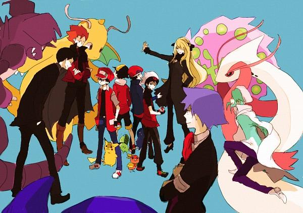 Tags: Anime, Tsuda, Pokémon, Hibiki (Pokémon), Nidoking, Dragonite, Sakaki (Pokémon), Chikorita, Mikuri (Pokémon), Yuuki (Pokémon), Tsuwabuki Daigo, Shirona (Pokémon), Wataru (Pokémon)
