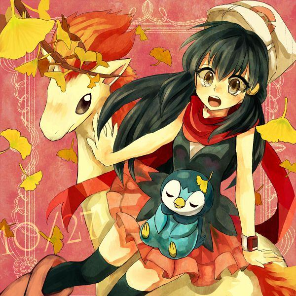 Tags: Anime, Pixiv Id 1275327, Pokémon SPECIAL, Pokémon, Ponyta, Piplup, Hikari (Pokémon), Fanart, Pixiv, Fanart From Pixiv