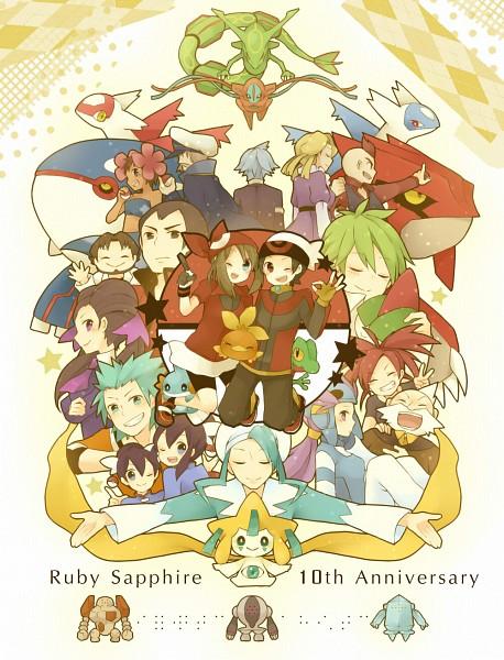 Tags: Anime, Asari (co*2art), Pokémon, Jirachi, Regice, Mitsuru (Pokémon), Prim (Pokémon), Torchic, Tsuwabuki Daigo, Kagetsu (Pokémon), Groudon, Regirock, Fuu (Pokémon)