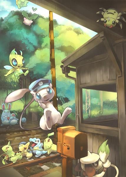 Tags: Anime, Toneko, Pokémon, Spinarak, Marill, Azumarill, Celebi, Totodile, Skiploom, Cyndaquil, Larvitar, Chikorita, Smeargle