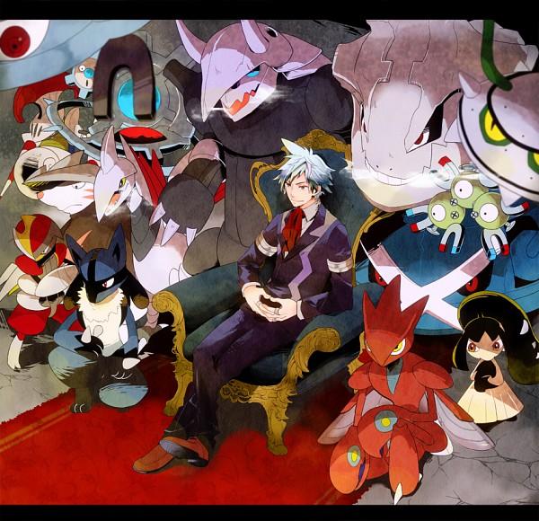 Tags: Anime, Pomeko, Pokémon, Escavalier, Magneton, Tsuwabuki Daigo, Skarmory, Magnezone, Excadrill, Scizor, Bisharp, Lucario, Klinklang