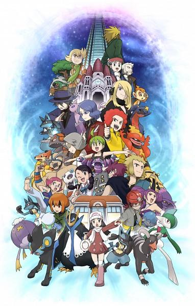 Tags: Anime, Pixiv Id 113809, Pokémon, Nanakamado, Luxray, Natane (Pokémon), Chimchar, Kouki (Pokémon), Suzuna (Pokémon), Shirona (Pokémon), Kurotsugu (Pokémon), Empoleon, Gen (Pokémon)