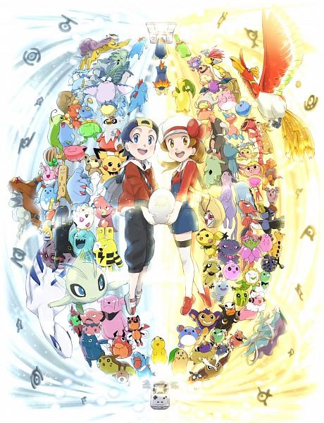Tags: Anime, Pixiv Id 113809, Pokémon, Noctowl, Aipom, Kotone (Pokémon), Crobat, Raikou, Unown, Ampharos, Skarmory, Steelix, Larvitar