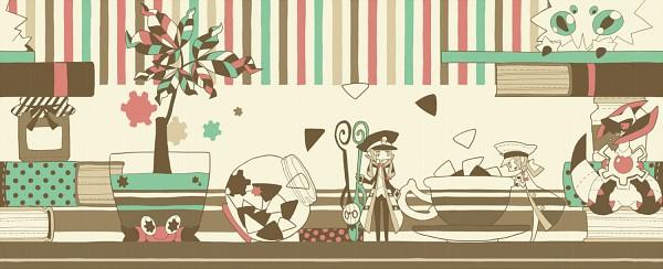 Tags: Anime, 801yamaarashi, Pokémon Black & White, Pokémon, Nobori, Kudari, Crustle, Haxorus, Joltik, Sugar, Fanart From Pixiv, Pixiv, Facebook Cover
