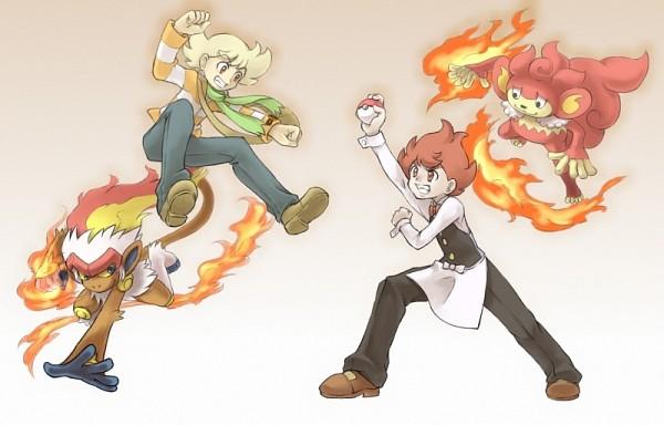 Tags: Anime, Pokémon, Jun (Pokémon), Simisear, Pod (Pokémon), Infernape
