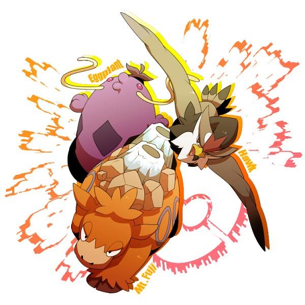 Tags: Anime, Pixiv Id 1830798, Pokémon, Camerupt, Staraptor, Swalot, Pixiv, Fanart From Pixiv, Fanart