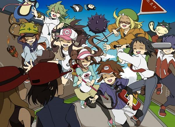 Tags: Anime, Pixiv Id 2208069, Pokémon Black & White, Pokémon X & Y, Black and White 2, Pokémon, Cheren (Pokémon), Hue, Tympole, N (Pokémon), Mei (Pokémon), Voltorb, Serena (Pokémon)