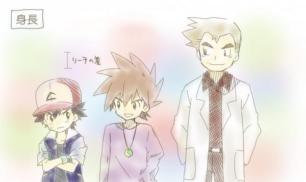 Tags: Anime, Bukiko, Pokémon, Ookido Yukinari, Green (Pokémon), Satoshi (Pokémon), Pixiv, Fanart