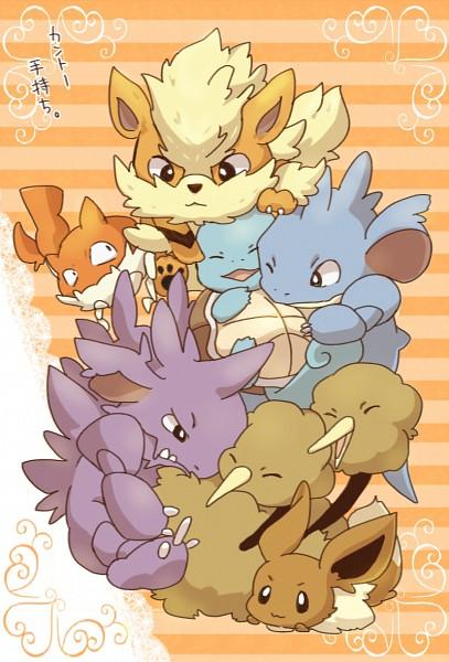Tags: Anime, Bukiko, Pokémon, Squirtle, Nidoking, Eevee, Doduo, Nidoqueen, Arcanine, Krabby, Pixiv, Fanart