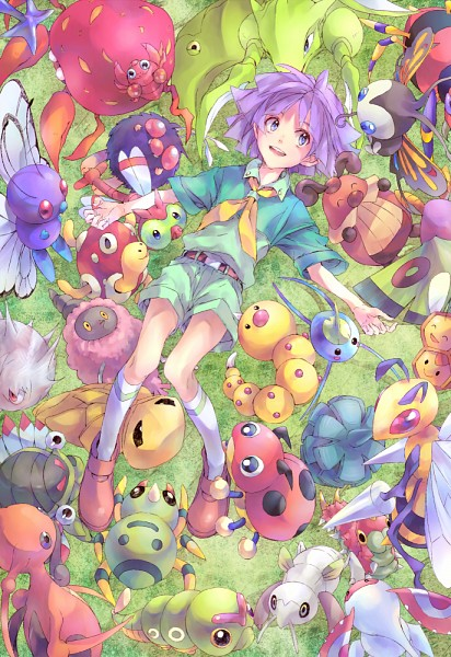 Tags: Anime, Pixiv Id 1361861, Pokémon, Tsukushi (Pokémon), Yanma, Nincada, Beautifly, Venonat, Burmy, Wurmple, Shuckle, Kricketune, Beedrill