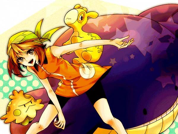 Tags: Anime, Pixiv Id 603863, Pokémon, Wailmer, Haruka (Pokémon), Shroomish, Numel, Leggings, Fanart, Pixiv