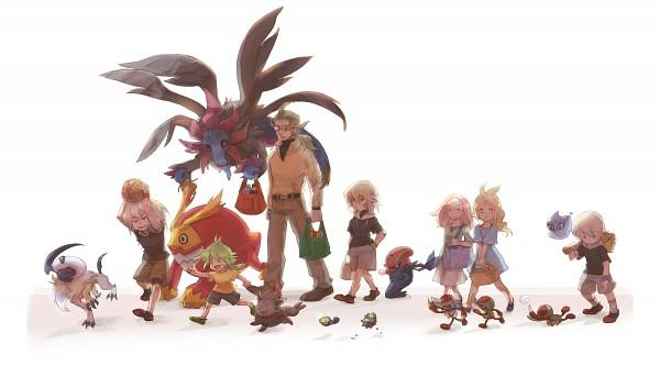Tags: Anime, Pixiv Id 500035, Pokémon, Tympole, Absol, Hydreigon, Darmanitan, Concordia, Zorua, Ferroseed, N (Pokémon), Anthea (Pokémon), Pawniard