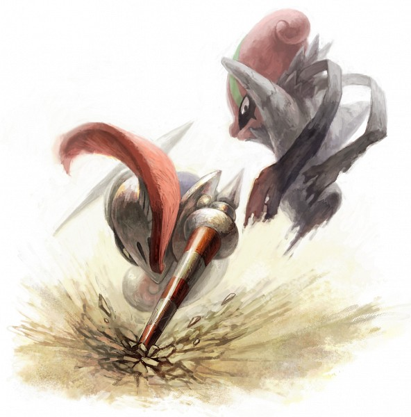 Tags: Anime, Inunoya, Pokémon, Escavalier, Accelgor, Fanart From Pixiv, Pixiv, Fanart