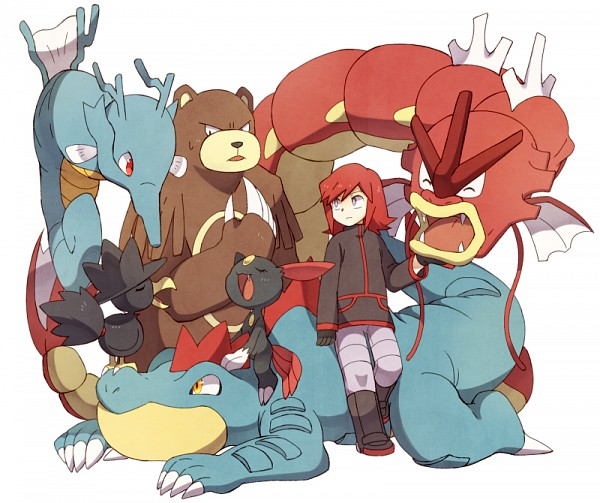 Tags: Anime, Otoufu (Nenne), Pokémon SPECIAL, Pokémon, Kingdra, Sneasel, Gyarados, Murkrow, Silver (Pokémon SPECIAL), Ursaring, Feraligatr, Fanart, Pixiv
