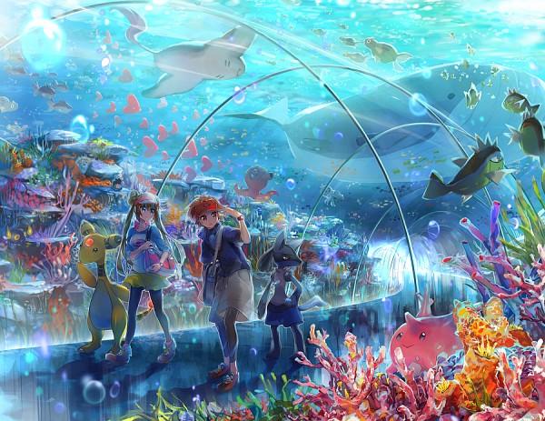 Tags: Anime, Namie-kun, Pokémon, Ampharos, Kyouhei, Chinchou, Octillery, Wailord, Mei (Pokémon), Lucario, Remoraid, Qwilfish, Finneon