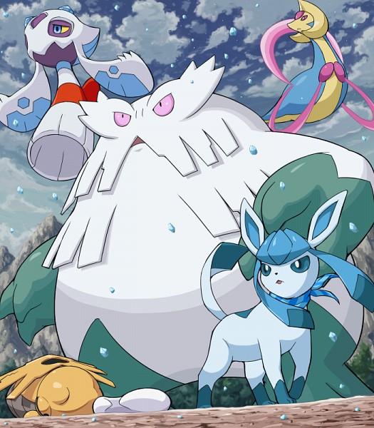 Tags: Anime, Soara, Pokémon, Glaceon, Cresselia, Froslass, Abomasnow, Shedinja, Legendary Pokémon