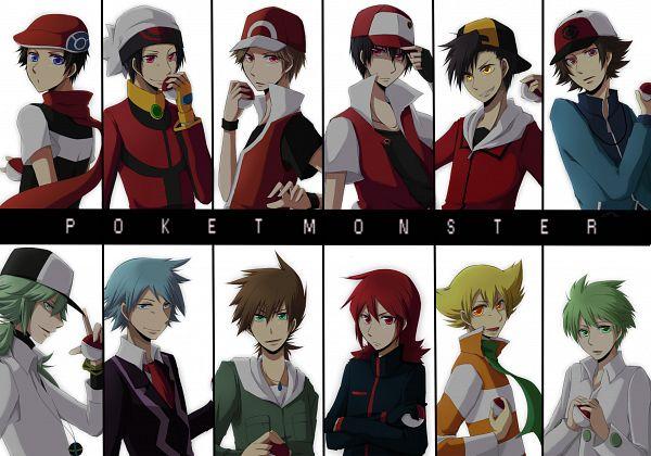 Tags: Anime, Fujiya, Pokémon, Jun (Pokémon), Hibiki (Pokémon), Fire (Pokémon), Kouki (Pokémon), Tsuwabuki Daigo, Green (Pokémon), Touya (Pokémon), N (Pokémon), Red (Pokémon), Yuuki (Pokémon)