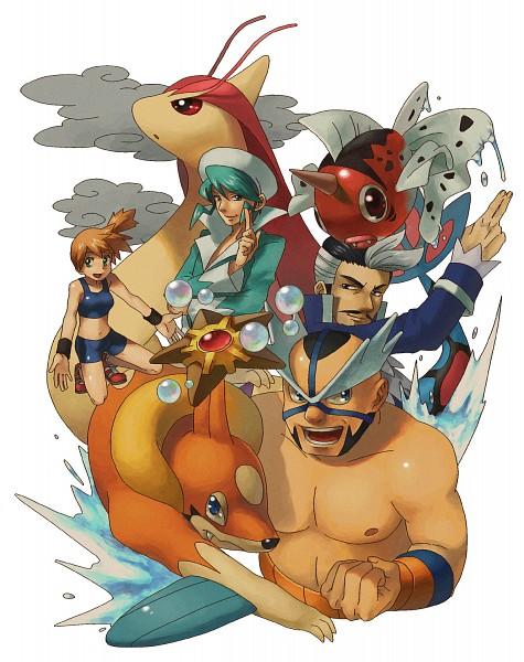 Tags: Anime, Enu Spinal, Pokémon, Kasumi (Pokémon), Adan, Staryu, Mikuri (Pokémon), Milotic, Floatzel, Maximum Kamen, Seaking, Pixiv, Fanart From Pixiv