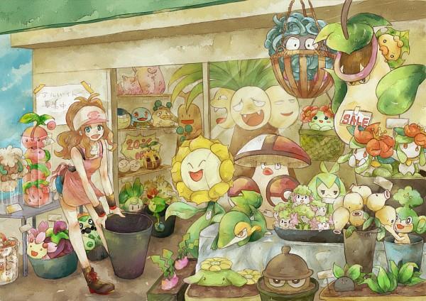 Tags: Anime, Pokémon, Oddish, Sudowoodo, Sewaddle, Cacnea, Pansage, Exeggcute, Victreebel, Cherubi, Shroomish, Tangela, Cherrim