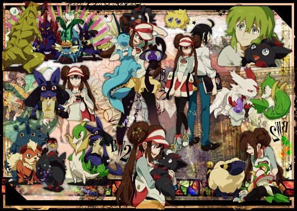 Tags: Anime, Amawap, Pokémon, Zorua, Heracross, N (Pokémon), Mei (Pokémon), Growlithe, Joltik, Zangoose, Vaporeon, Lampent, Lucario