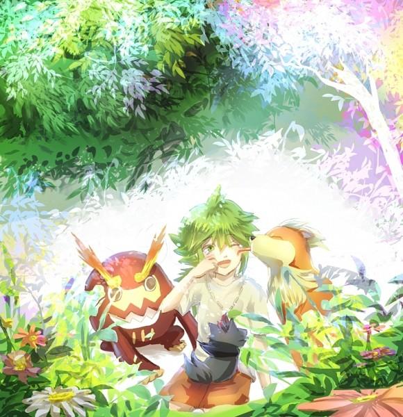 Tags: Anime, Pixiv Id 3138835, Pokémon, Growlithe, Darmanitan, N (Pokémon), Zorua, Pixiv